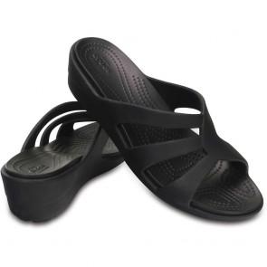 Chaussures Crocs Sanrah Strappy Wedge noir