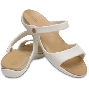 Sandales Crocs Cleo beige