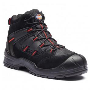 Chaussure de sécurité montante Dickies Everyday noir rouge