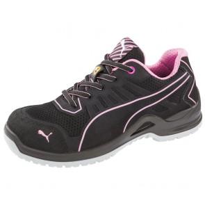 Chaussure de sécurité basse femme Puma Fuse Pink Low ESD S1P SRC
