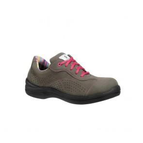 Chaussure de sécurité basse femme Lemaitre S1P Pink SRC grise