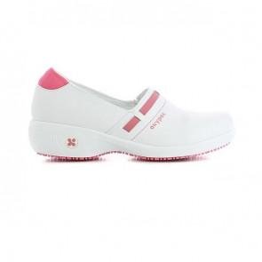 Chaussure de travail Oxypas Lucia ESD SRC blanc rose fuchsia