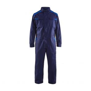 Combinaison de travail industrie manches longues Blaklader 100% coton 320 g/m² Marine bleu avant