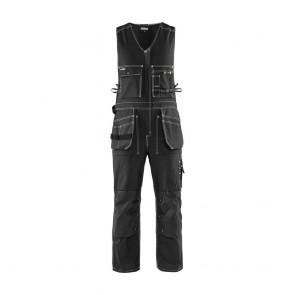 Combinaison sans manches dos stretch Blaklader 100% coton 370g Noir avant