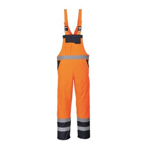 Cotte à bretelles Haute Visibilité Portwest Bicolore Respirante orange