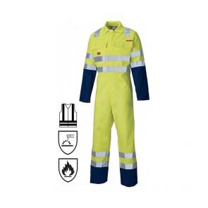 Combinaison de travail Dickies proban haute-visibilité jaune/marine