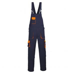 Cotte à Bretelles Portwest Texo Contrast marines poches oranges