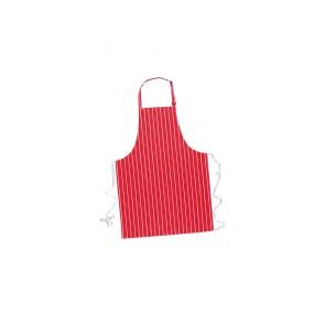 Tablier à bavette Portwest Butcher 100% coton rouge