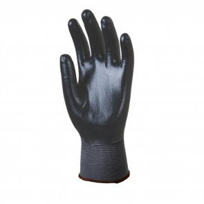 Gants de travail précision Polyamide Enduit Nitrile Eurotechnique 6280 (lot de 10 paires de gants)