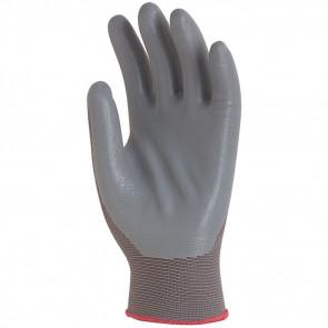 Gants de travail précision Polyamide Enduit Nitrile Eurotechnique 6240 (lot de 10 paires de gants)