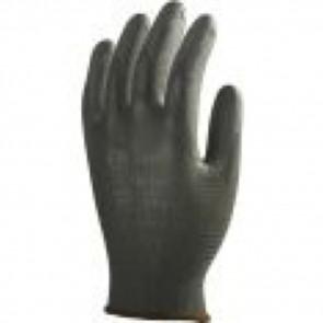 Gants de travail précision Polyester enduit PU Eurotechnique 611 (lot de 10 paires de gants)