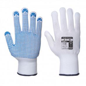 Gants tricotés Portwest Picots PVC A110 bleu