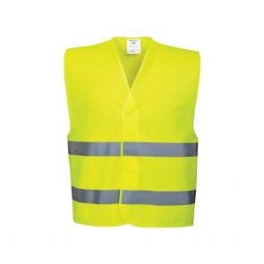 Gilet double ceinture Portwest Vest-Port jaune