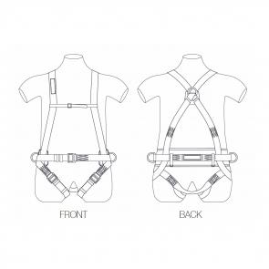 Harnais complet avec ceinture de maintien et sous-fessière Toplock