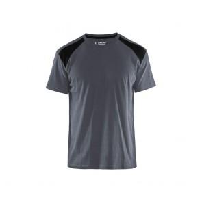 T-shirt Blaklader Gris/Epaules Noires