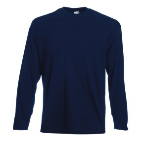 Tee-shirt manches longues 160 Fruit Of The Loom Valueweight marine