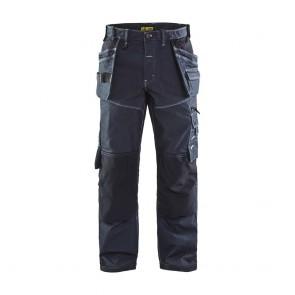Pantalon X1900 artisan stretch tissu 1141 Blaklader Marine / Noir Face