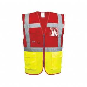 Gilet Haute Visibilité Portwest Executive Paris Bicolore rouge