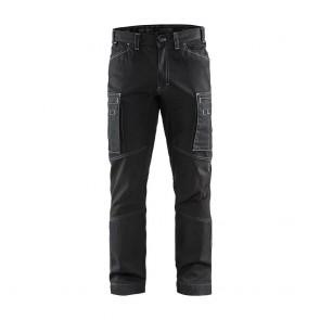 Pantalon de travail services denim stretch Blaklader cordura denim 320g Noir avant
