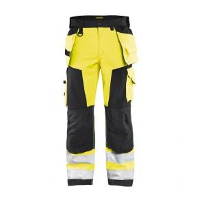 Pantalon imperméable artisan softshell haute visibilité Blaklader 100% polyester Jaune / noir