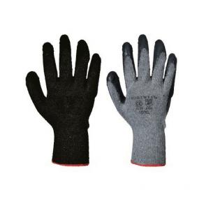 Gants tricoté Portwest enduit Latex Fortis A150 Gris noir
