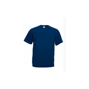 Tee-Shirt Homme Col Rond Manches Courtes Fruit Of The Loom  marine