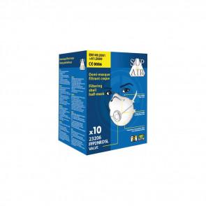 Masque respiratoire coque avec valve Sup Air  FFP2 D NR SL (boîte de 10)