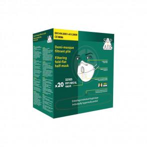 Masque respiratoire pliable à usage unique avec valve Sup Air FFP1 D SL (boîte de 20 masques)
