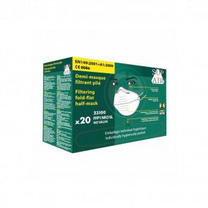 Masque respiratoire pliable à usage unique Sup Air FFP1 D SL (boîte de 20 masques)