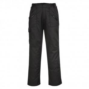 Pantalon ceinture élastiquée Postwest Action noir face