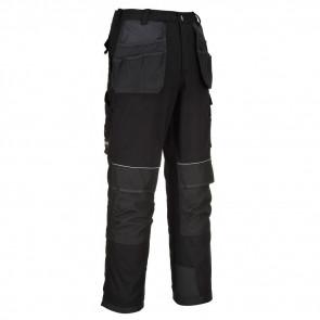 Pantalon de travail multi-poche Portwest Tungstène noir dos