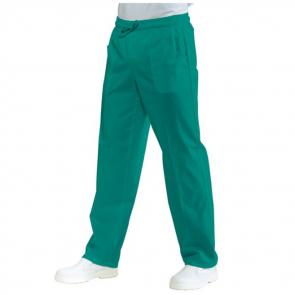 Pantalon médical taille élastiquée Isacco Vert foncé