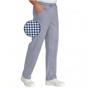 """Pantalon de cuisine Ultra Léger Isacco Extra Light motif """"pied de poule"""""""