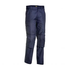 Pantalon de travail industrie poches genouillères Blaklader 100% coton Avant