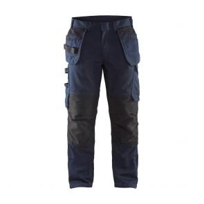 Pantalon de travail services avec poches flottantes Blaklader polycoton Marine Foncé / Noir avant
