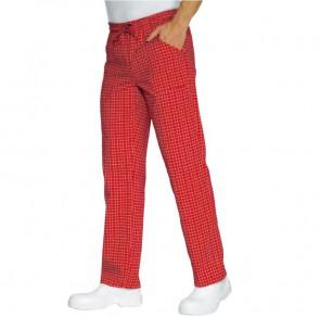 Pantalon de cuisine rouge à carreaux Isacco Denver