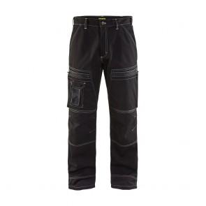 Pantalon de travail chauffeur polycoton Blaklader Noir avant