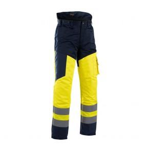 Pantalon de travail tronçonneuse haute visibilté Blaklader polycoton Avant