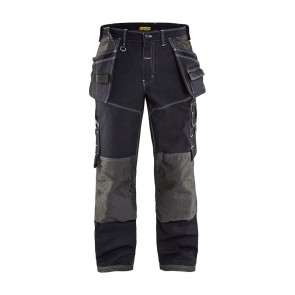 Pantalon de travail X1900 artisan cordura nyco Blaklader Noir avant