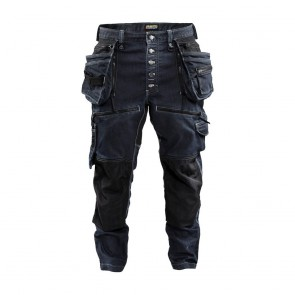 Pantalon X1900 artisan cordura denim stretch Blaklader Marine / Noir Avant