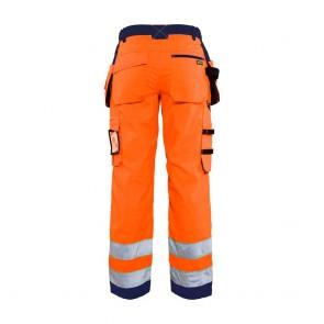 Pantalon de travail femme haute visibilité Blaklader polycoton poches flottantes