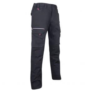Pantalon de travail en tissu canvas extensible LMA Basalte 2