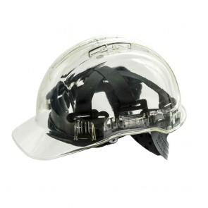 casque de chantier translucide peakview portwest PV50 incolore