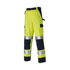 Pantalon haute visibilité Dickies multipoche bicolore jaune