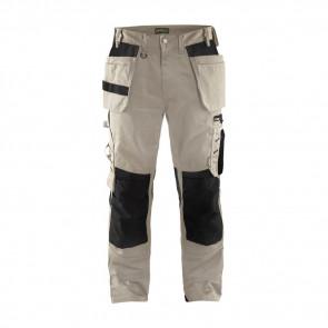 Pantalon de travail artisan Blaklader polycoton Beige noir avant