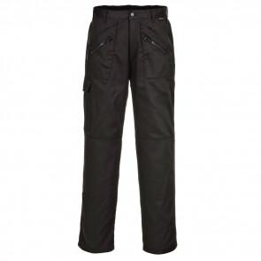 Pantalon de travail matelassé Portwest Action noir face