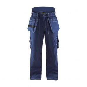 Pantalon artisan hiver Blaklader 100% coton croisé Marine avant