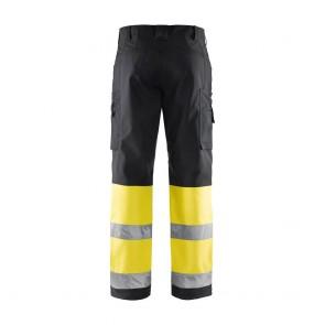 Pantalon de travail haute visibilité softshell Blaklader Stretch classe 1