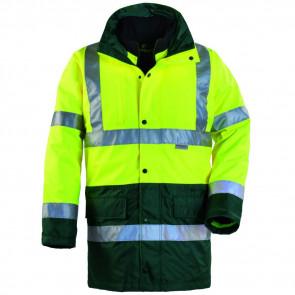 Parka haute visibilité Coverguard Hi-way 4 en 1 jaune vert