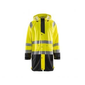 Veste de pluie Haute Visibilité Niveau 1 Homme Blaklader jaune noir
